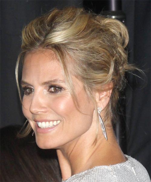 Heidi Klum Long Straight Casual Updo Hairstyle