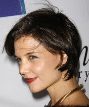 katie holmes short straight casual