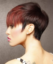 short straight black and red two-tone
