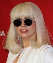 lady gaga medium straight casual