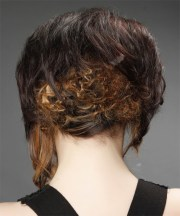 medium curly formal asymmetrical