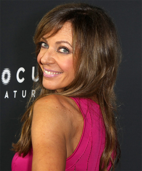 Allison Janney Long Straight Casual Hairstyle With Side