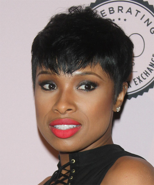 Jennifer Hudson Short Straight Casual Hairstyle With