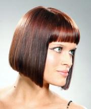 medium straight casual bob hairstyle