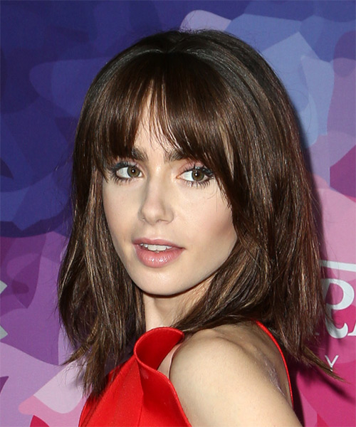 Lily Collins Hairstyles Hair Cuts And Colors