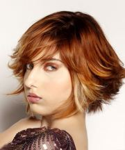 short straight red hairstyle