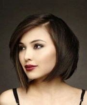 formal short straight bob hairstyle