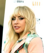 lady gaga long wavy casual hairstyle