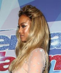 Tyra Banks Long Wavy Casual Hairstyle - Blonde Hair Color