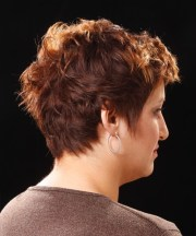 short wavy casual hairstyle - copper