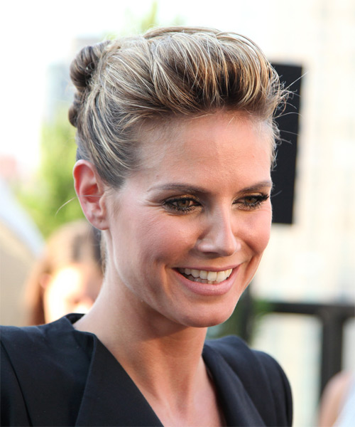 Heidi Klum Long Curly Casual Updo Hairstyle