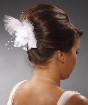 formal long straight updo hairstyle
