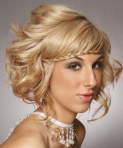 formal long curly updo hairstyle