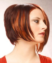 short straight dark mahogany red