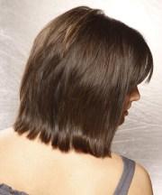medium straight layered dark brunette