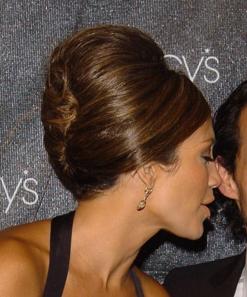 Jennifer Lopez Medium Straight Formal Updo Hairstyle