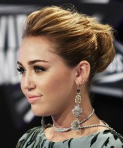 miley cyrus long curly formal updo