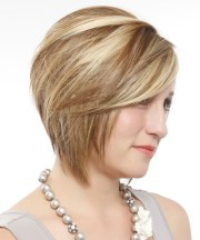 short straight formal layered bob