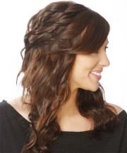 long curly dark brunette