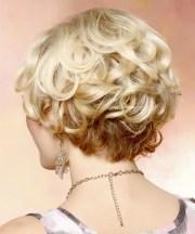 formal short curly layered bob