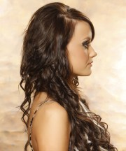 long curly formal hairstyle - mocha