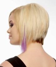short straight layered golden blonde
