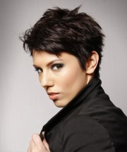 short straight casual layered pixie