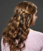 long curly caramel brunette