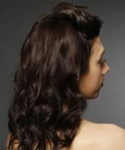 medium curly dark brunette