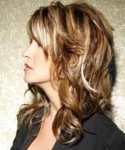 long wavy caramel brunette hairstyle