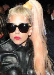 side ponytail of lady gaga