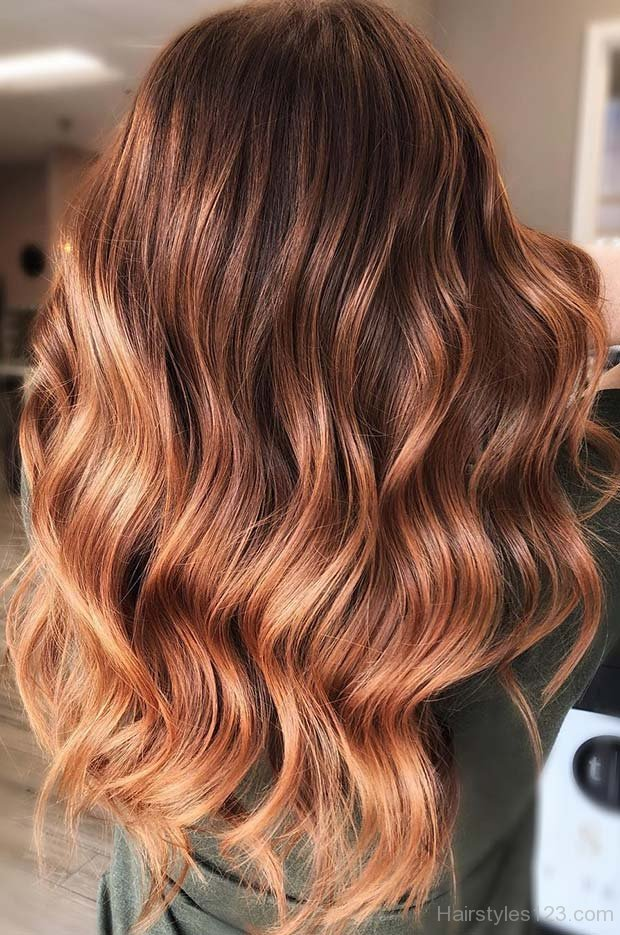 Hair Colors Of 2018 Long Wavy Hairstyles
