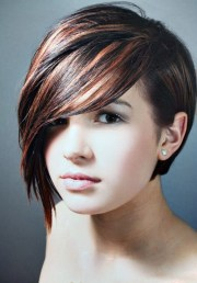 short hair with long bangs hairstyles;