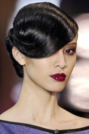 retro hairstyles with bangs