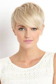 short and funky natural blonde
