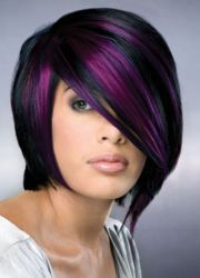 purple hair women 35 excessively