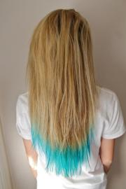 light blue tips hairstyles