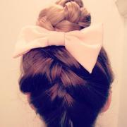 braid bun & bow hairstyles