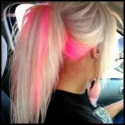 blonde & neon ponytail hairstyles