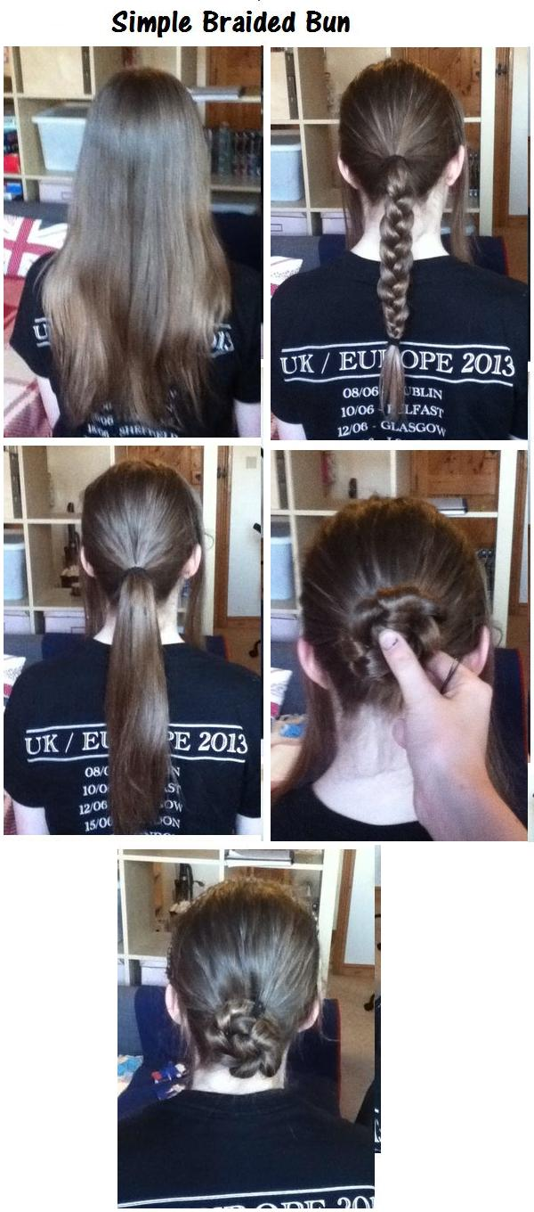 Simple Braided Bun Hairstyles How To