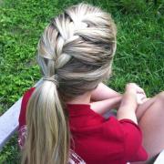 french braided pony hairstyles