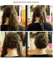 quick & easy updo hairstyles