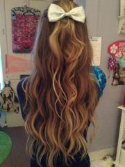 waves & bow hairstyles
