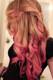 french braid & pony tail hairstyles