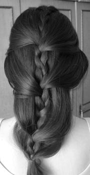 layered braid twist hairstyles