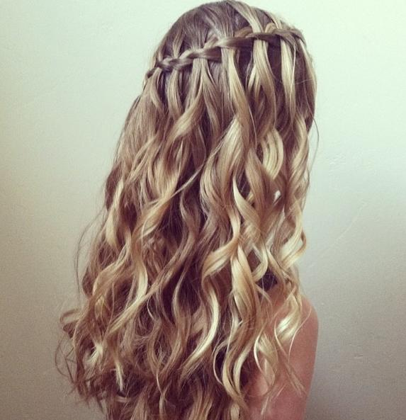 Waterfall Amp Curls Hairstyles How To
