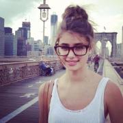 cute glasses & bun hairstyles