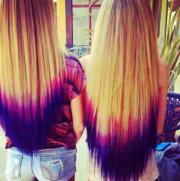 pink purple ombre hairstyles