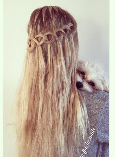 Loop Waterfall BRaid Hairstyles How To
