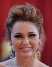 miley cyrus messy updo - hairstyles